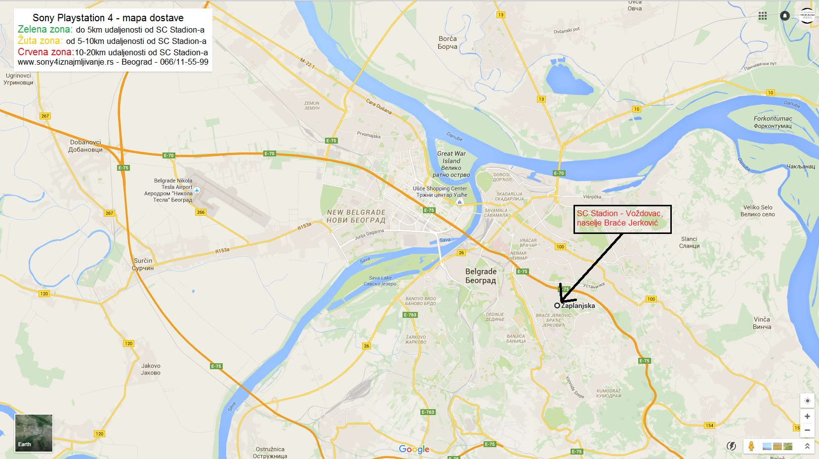 kanarevo brdo beograd mapa Dostava Sony Playstation konzola Beograd | Sony 4 iznajmljivanje kanarevo brdo beograd mapa